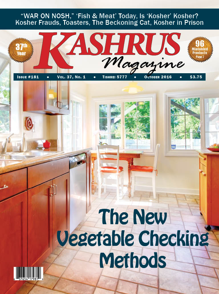 The current issue of KASHRUS magazine.